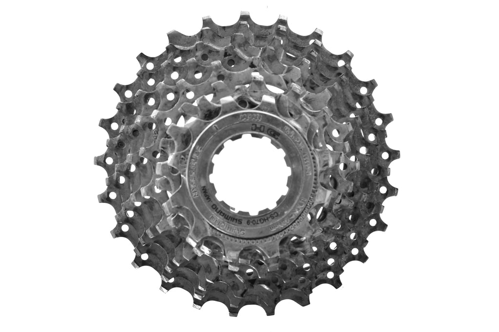 Shimano HG-70-9 Cassette 12-25T 9 Speed Road Bike drive side