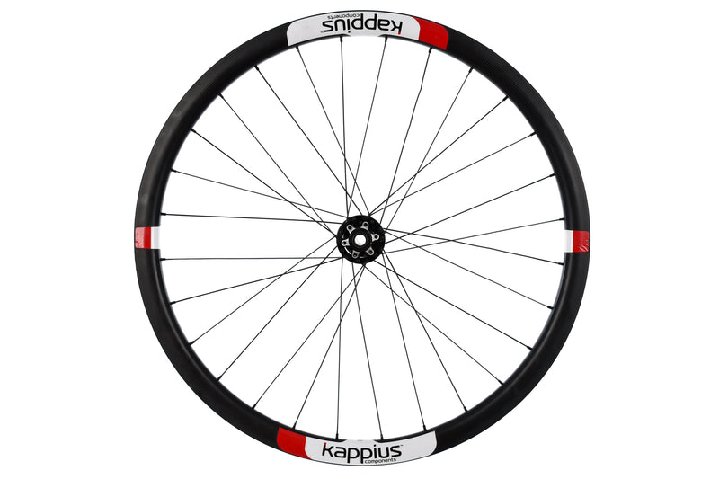 Kappius Components Carbon Tubular Road CX Cyclocross Bike Front Wheel 15x100 mm drive side