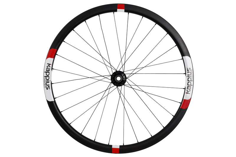 Kappius Components Carbon Tubular Road CX Cyclocross Bike Front Wheel 15x100 mm sticker