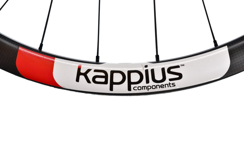 Kappius Components Carbon Tubular Road CX Cyclocross Bike Front Wheel 15x100 mm detail 2