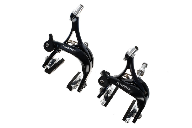 Tektro Alloy Road Bike Caliper Brake Set Aluminum Black drive side