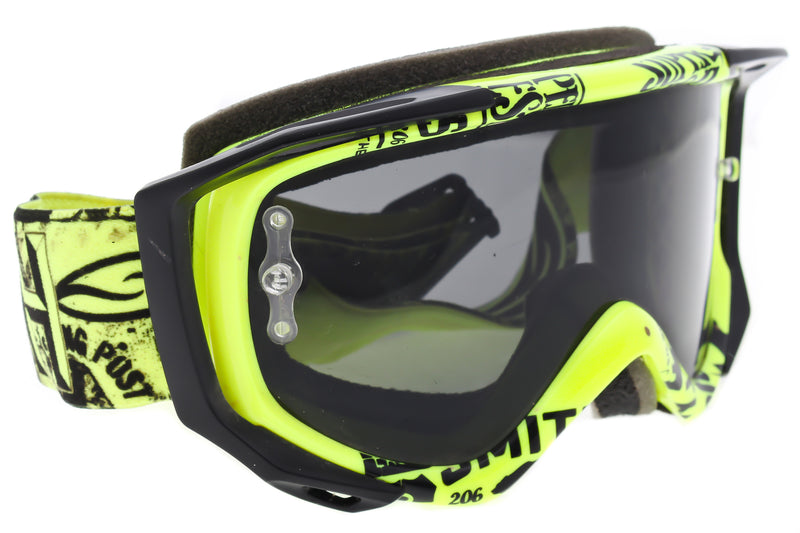 Smith Fuel Moto Downhill Goggles Yellow Frame Dark Mountain Bike drive side