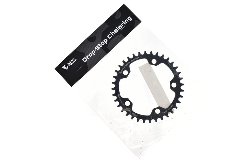 Wolf Tooth Components Drop-Stop Chainring 11 Speed 36T 110mm BCD Black drive side