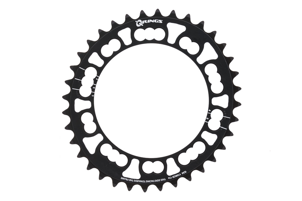 Rotor Q-Ring Chainring 11 Speed 36T 110mm BCD Black drive side