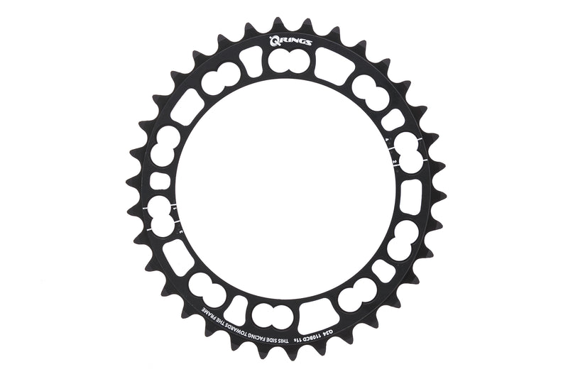 Rotor Q-Ring Chainring 11 Speed 34T 110mm BCD Black drive side