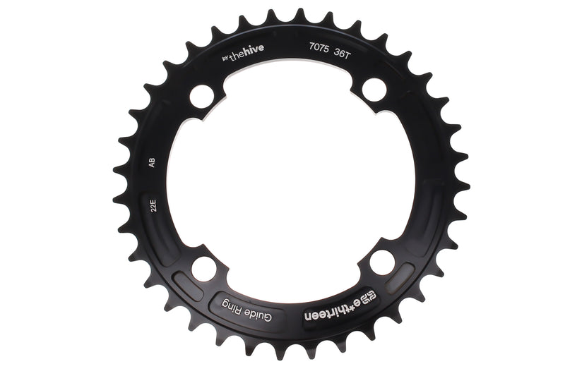 E*Thirteen Guide Ring Chainring 9/10 Speed 36T 104mm BCD Black drive side