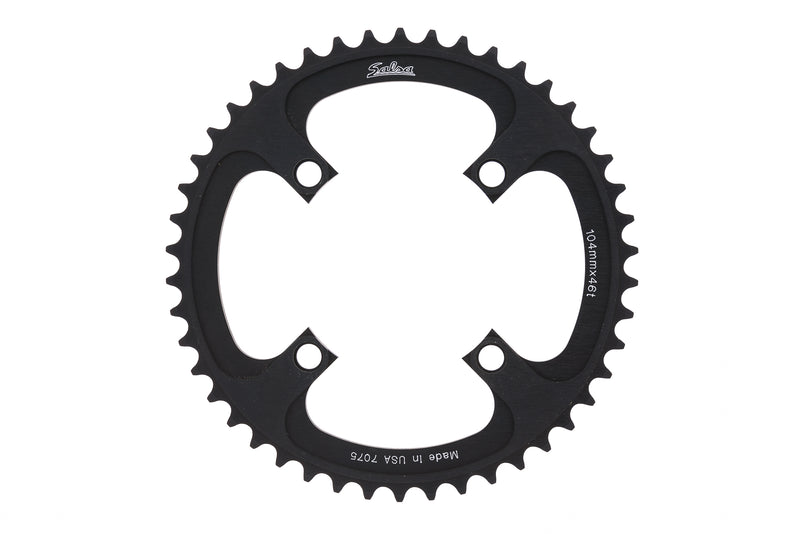 Salsa Chainring 9 Speed 46T 104mm BCD Black drive side