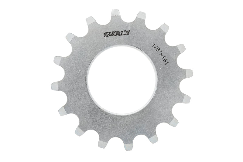 "Surly Track Cog 1/8"" x 16T Silver drive side"