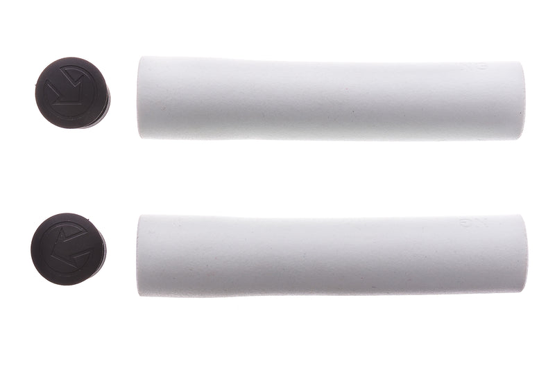 PRO Slide-On Race Grips 130mm White Silicone drive side