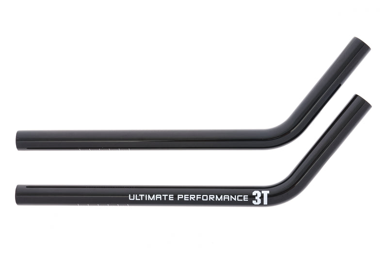 3T Aero Extensions 22.2mm 370mm Ski Bend Carbon Black drive side