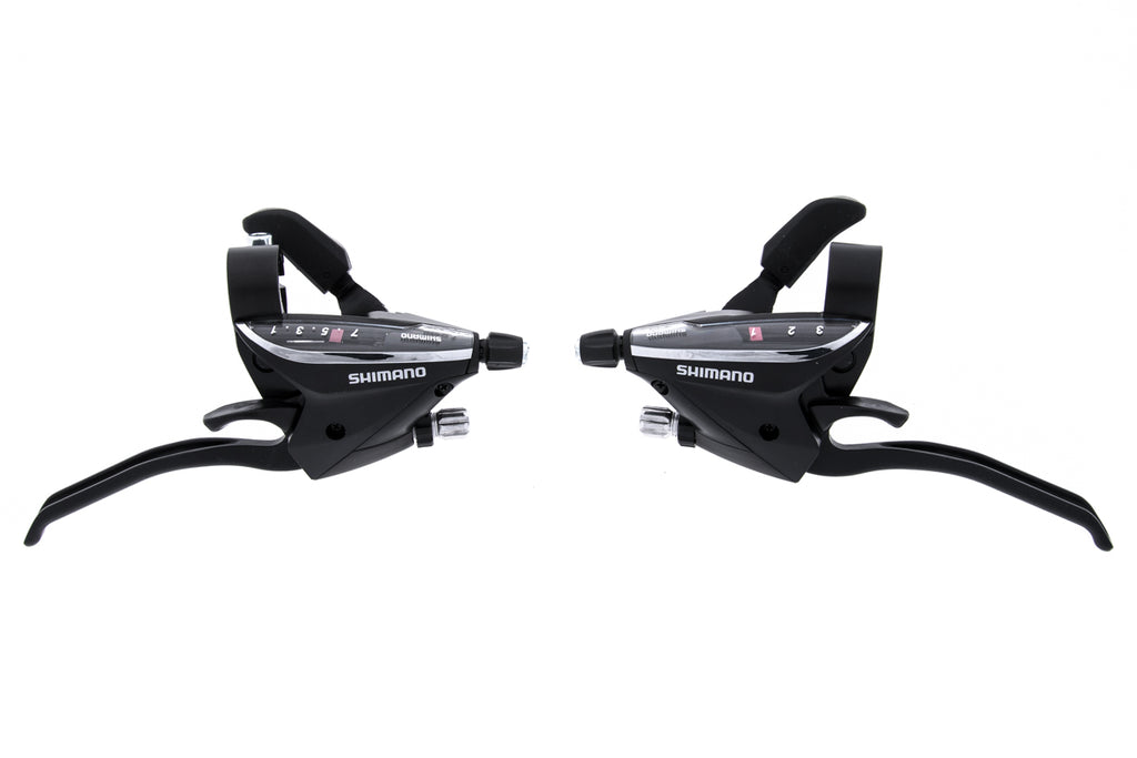 Shimano ST-EF65-7R4/L4 Brake/Shifter Lever Set 3x7 Speed Black drive side