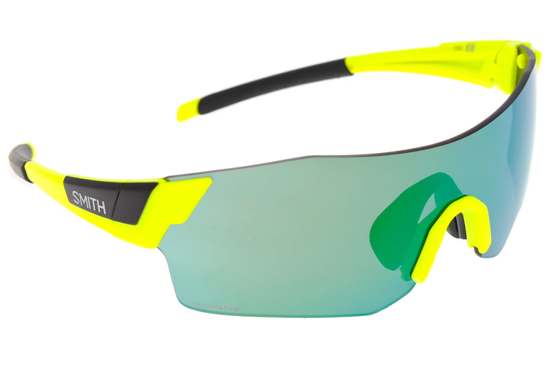 Smith Pivlock Arena Sunglasses Matte Acid Frame Green Mirror Lens drive side