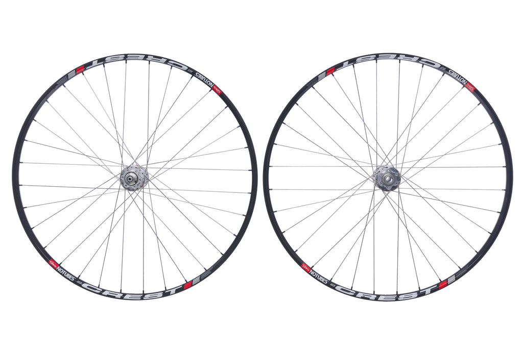 "Chris King Stan's NoTubes Crest Aluminum Clincher 29"" Wheelset drive side"