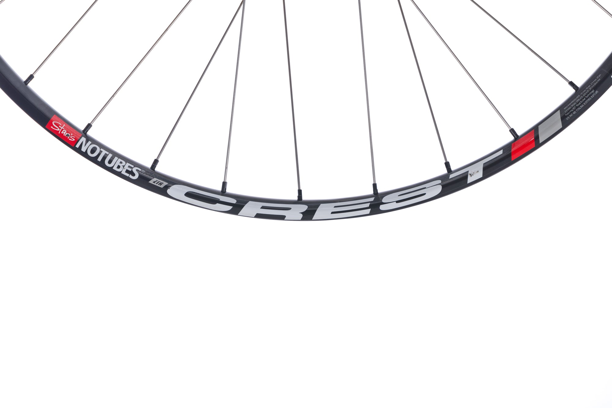 "Chris King Stan's NoTubes Crest Aluminum Clincher 29"" Wheelset front wheel"