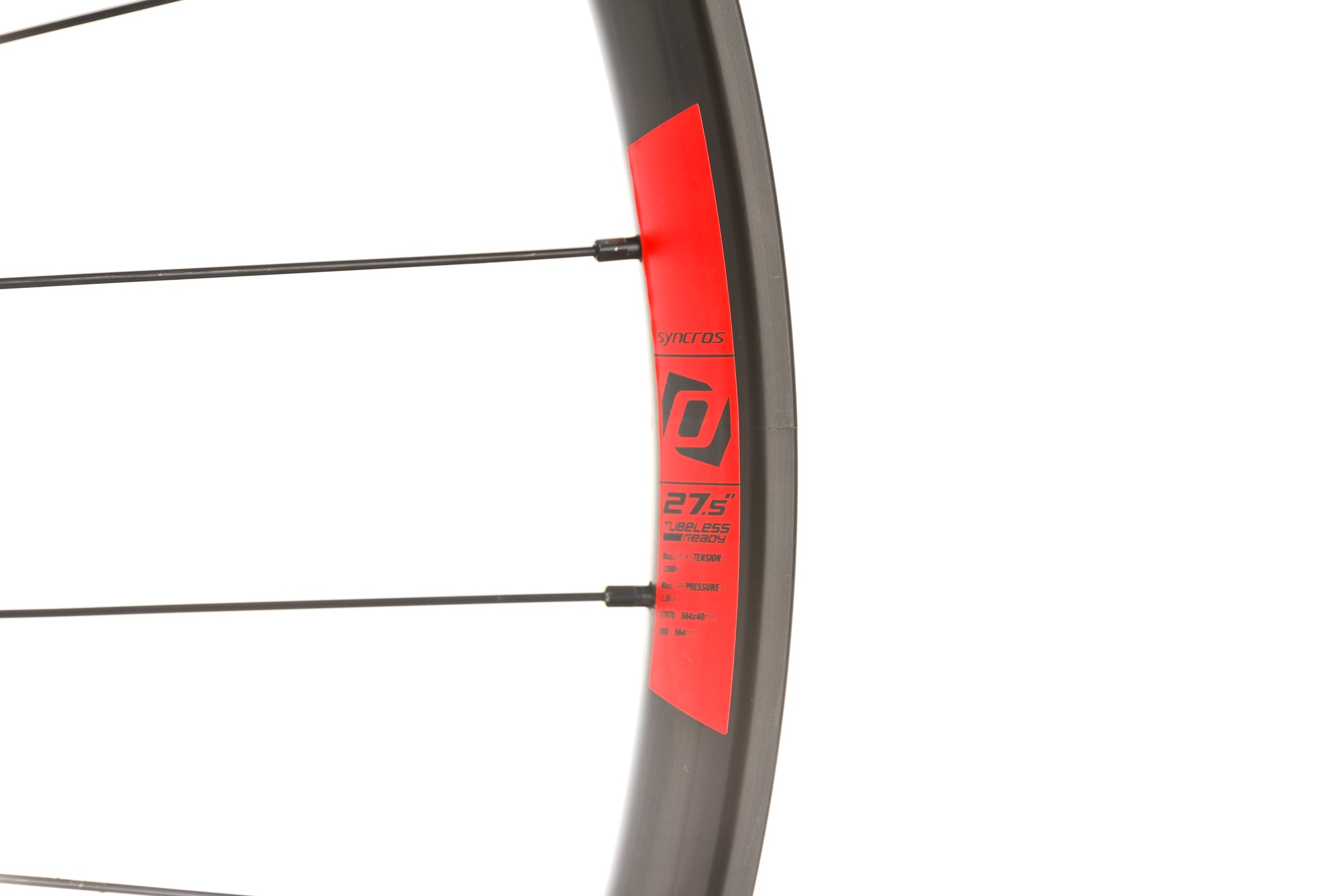 "Syncros X40 Aluminum Clincher 27.5"" Wheelset front wheel"