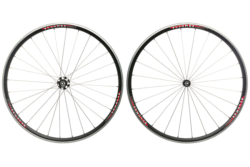 Velomax Circuit Aluminum Clincher 700c Wheelset drive side