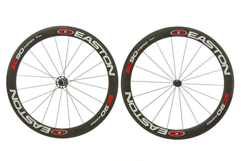 Easton EC90 Carbon Tubular Wheelset non-drive side