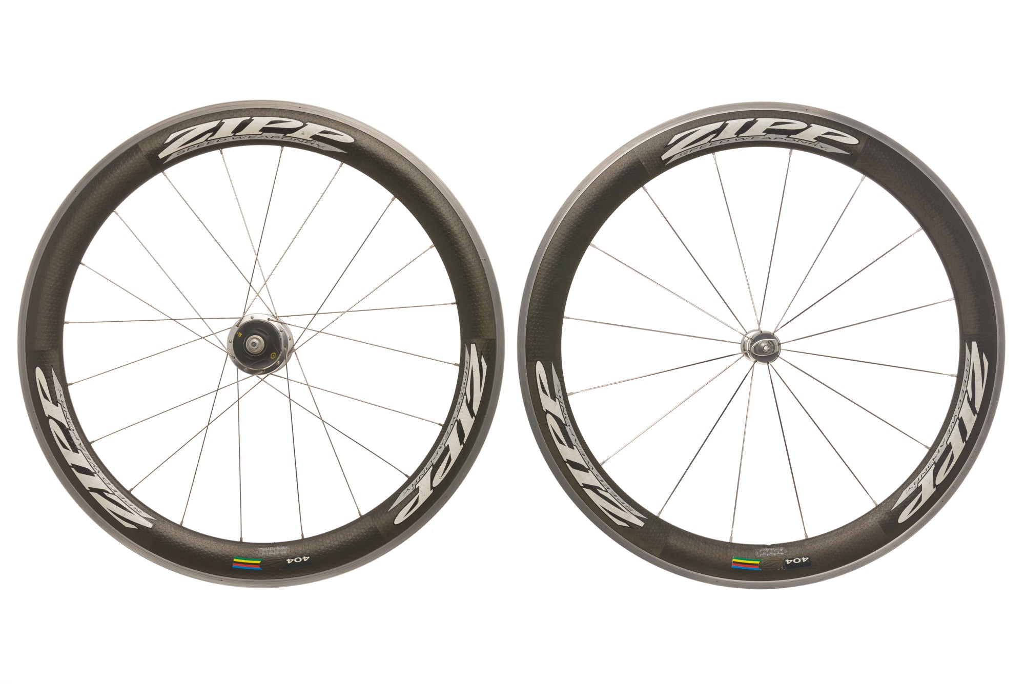 Zipp 404 Powertap SL+ Carbon Clincher 700c Wheelset drive side