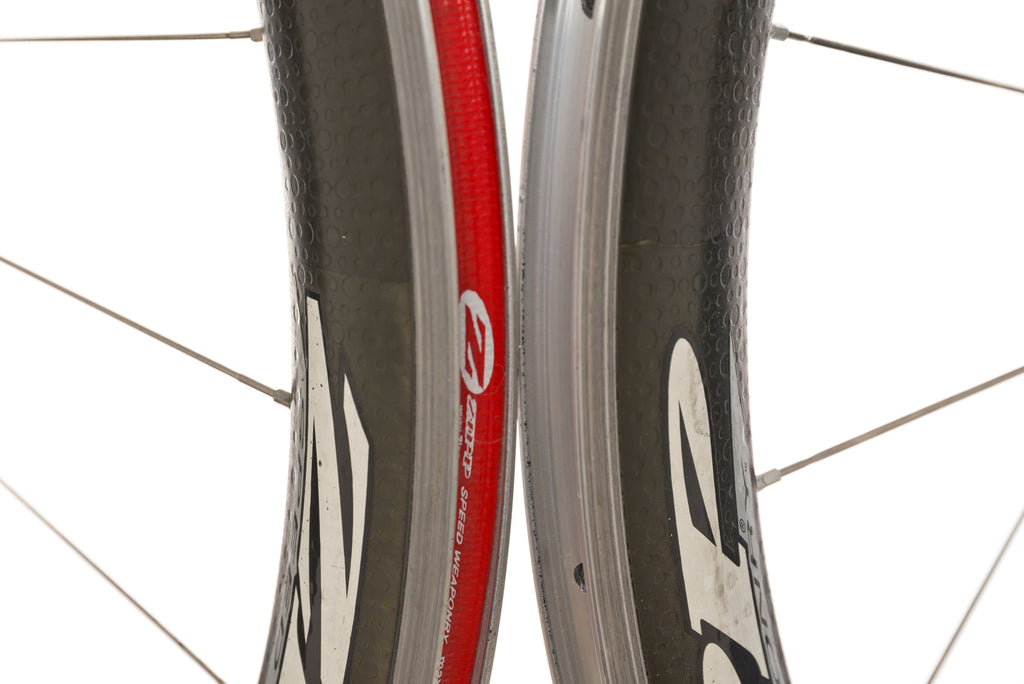 Zipp 404 Powertap SL+ Carbon Clincher 700c Wheelset front wheel