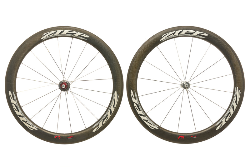 Zipp 404 Firecrest Road Bike Wheelset 700c Carbon Clincher Shimano 10 Speed non-drive side