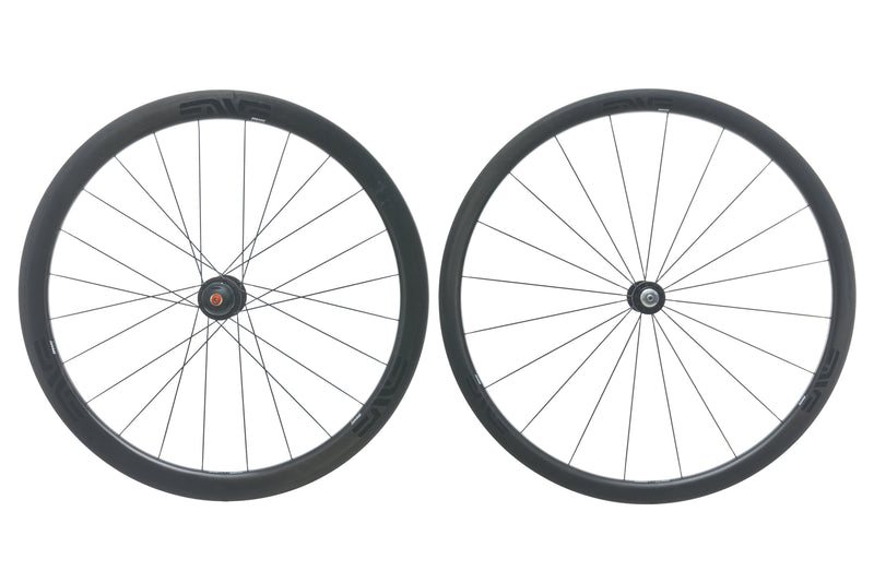 Enve SES 3.4 / Powertap G3 Carbon Clincher 700c Wheelset drive side
