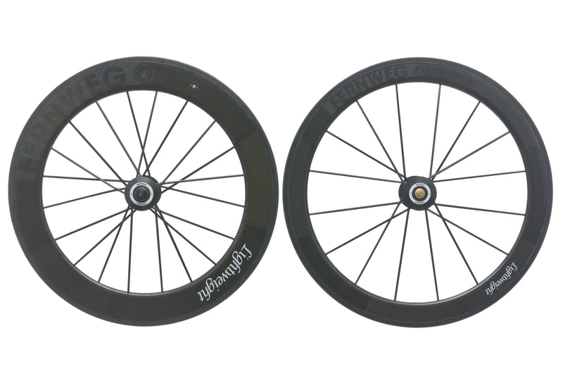 Lightweight Fernweg Carbon Tubular 700c Wheelset drive side