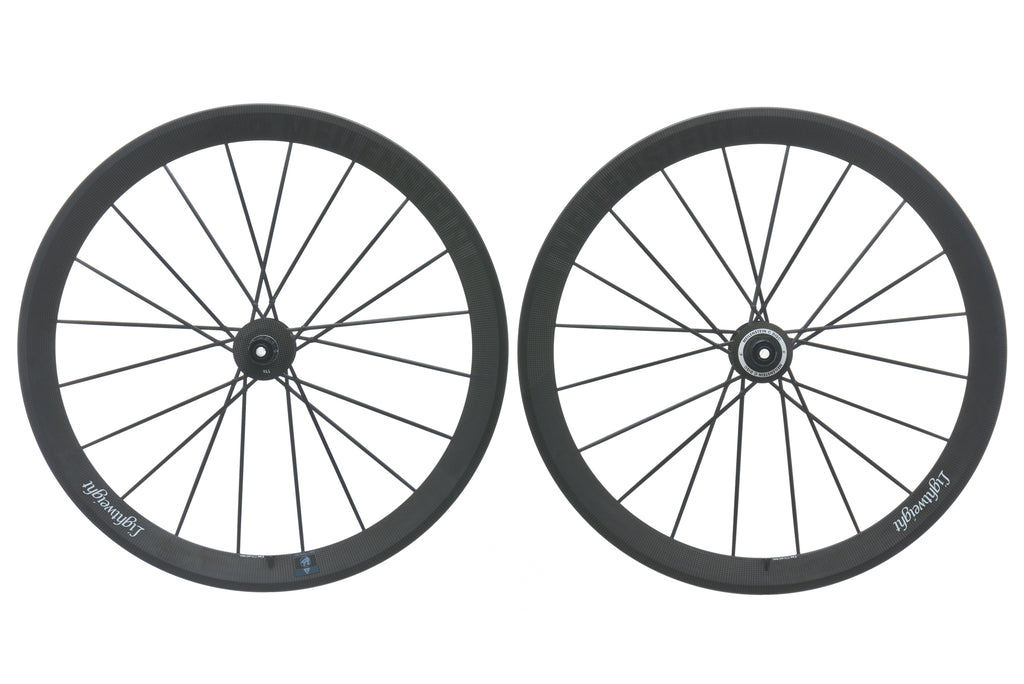 Lightweight Meilenstein Carbon Disc Brake Clincher 700c Wheelset non-drive side
