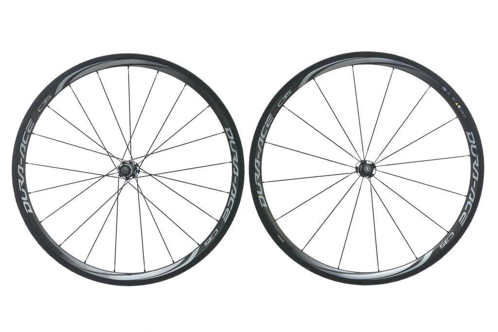 Shimano Dura Ace C35 WH-9000 Carbon Tubular 700c Wheel Set non-drive side