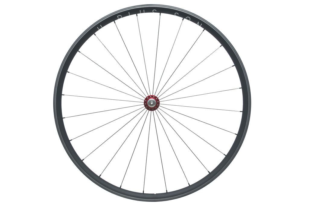 H Plus Son Archetype / Chris King R45 Aluminum Clincher 700c Front Wheel drive side