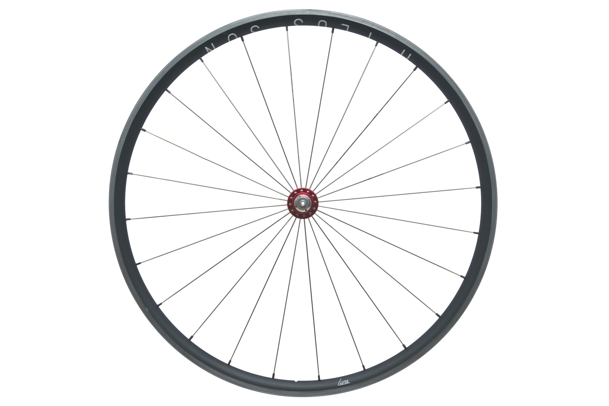 H Plus Son Archetype / Chris King R45 Aluminum Clincher 700c Front Wheel non-drive side