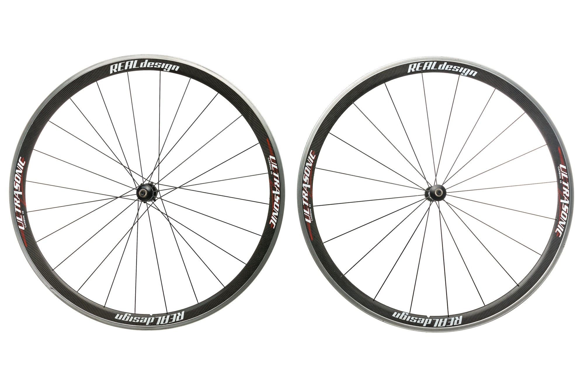 Real Design Ultrasonic 40 Carbon Clincher 700c Wheelset