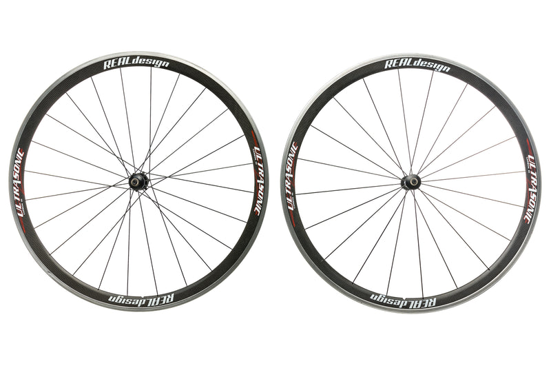 Real Design Ultrasonic 40 Carbon Clincher 700c Wheelset drive side