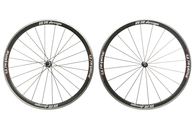 Real Design Ultrasonic 40 Carbon Clincher 700c Wheelset non-drive side