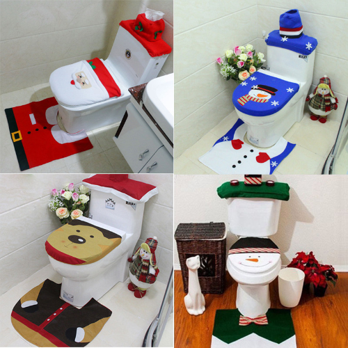 Christmas Themed Toilet Seat Cover