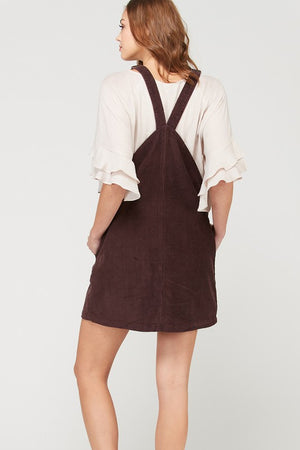 Corduroy Mini Dress With Pockets!