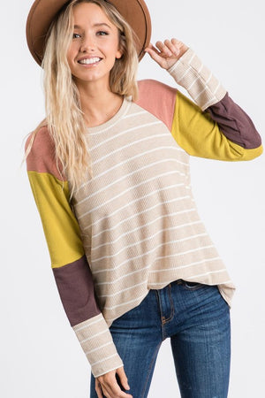 H Long Sleeve Color Block