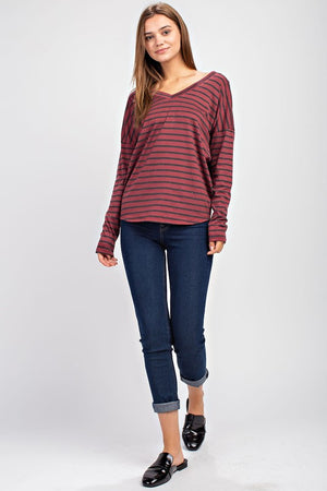 Jersey Knit Striped Basic!
