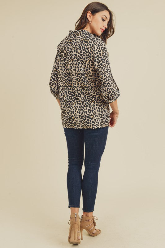 Animal Print Button Down!