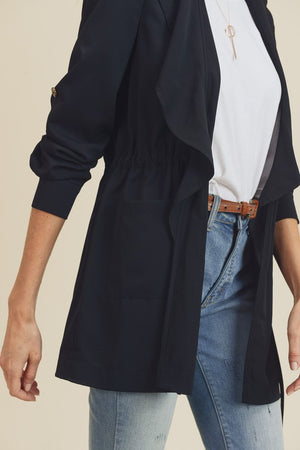 D&R Black Waist Coat Roll Up Sleeves