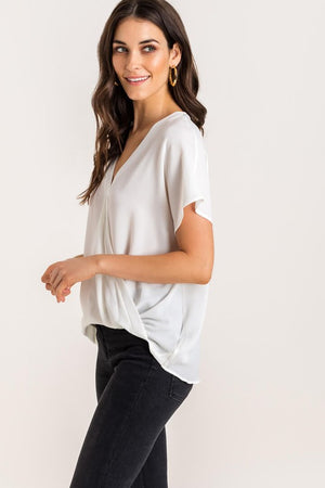 Surplice Short-Sleeve Top