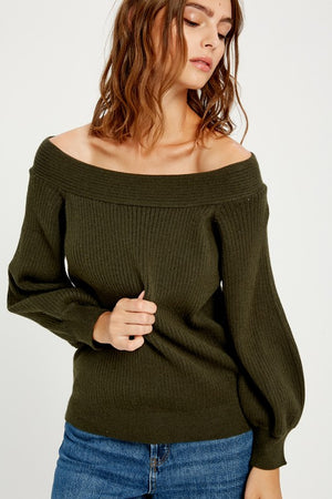 Squared Neck Soft Sweater!