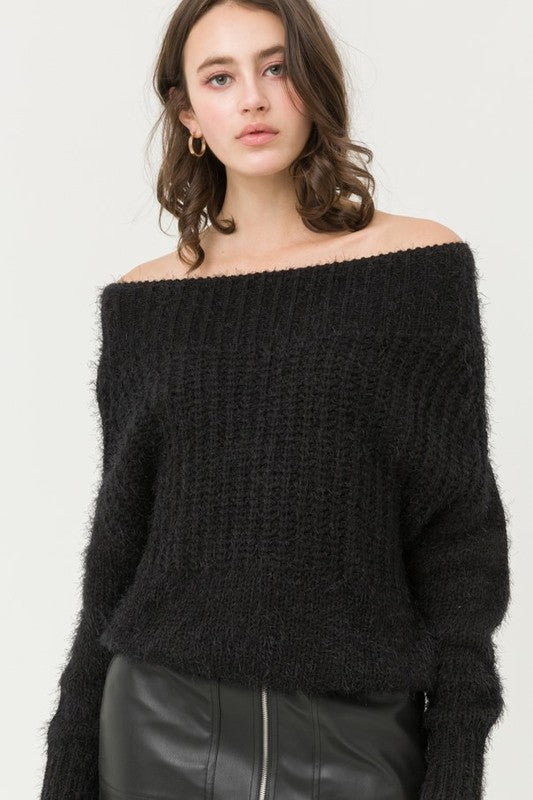 Super Soft Off Shoulder Sweater Top !