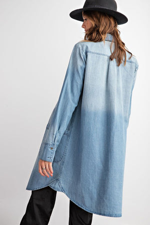 Ease Washed Tunic Length Denim