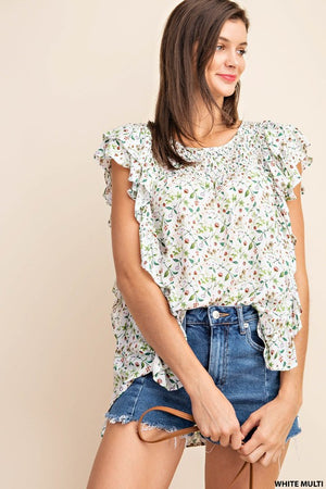 Floral Lightweight Blouse!