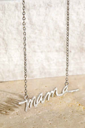 Brass MAMA Pendant Necklace!