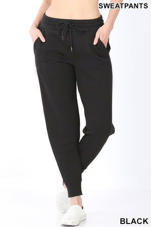 Jogger Sweatpants With Pockets & Elastic Waistband!