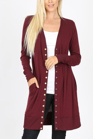 Z Long Sleeve Snap Cardigans!