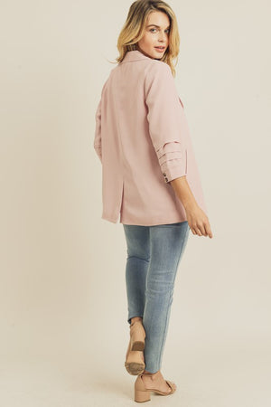 Tucked Sleeve Blazer With Pocket Detail - Pre-Order!