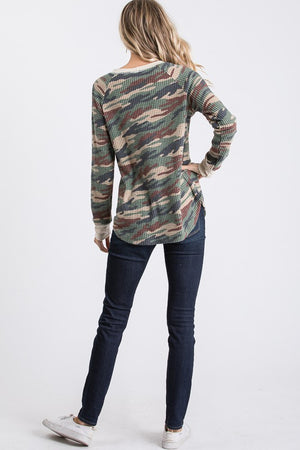 Long Sleeve Thermal Camo Top!