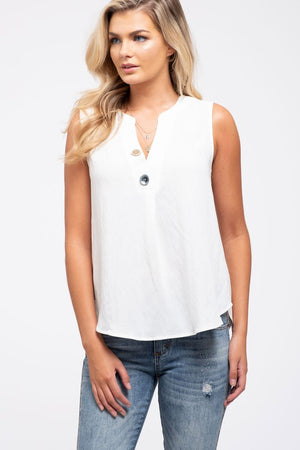 Button Neck Tank!